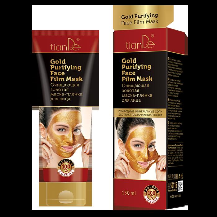 Oczyszczająca złota maska foliowa do twarzy